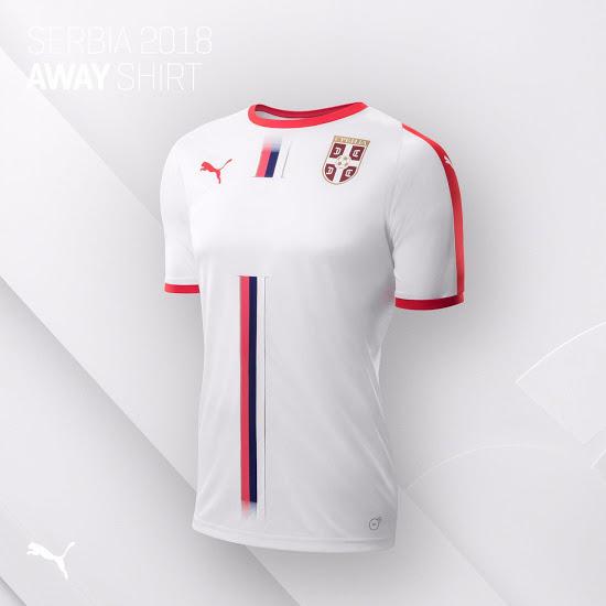 Serbie 2018 maillot foot exterieur coupe du monde 2018