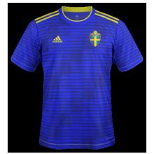 Suède 2018 maillot exterieur bleu coupe du monde 2018