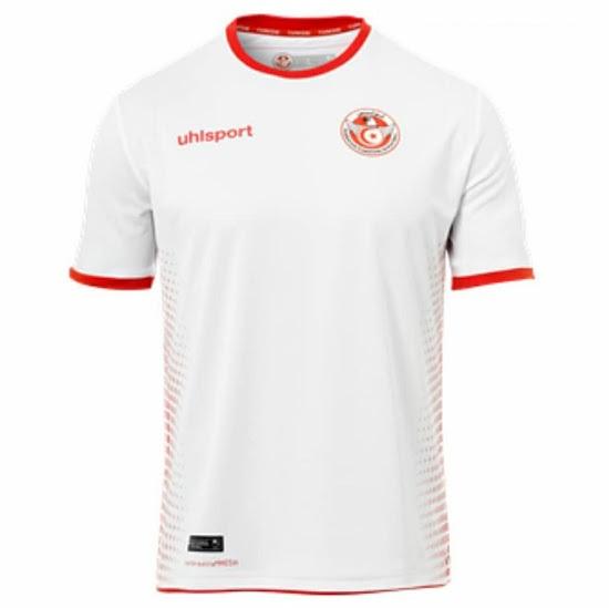 Tunisie 2018 maillot domicile coupe du monde 2018 Uhlsport
