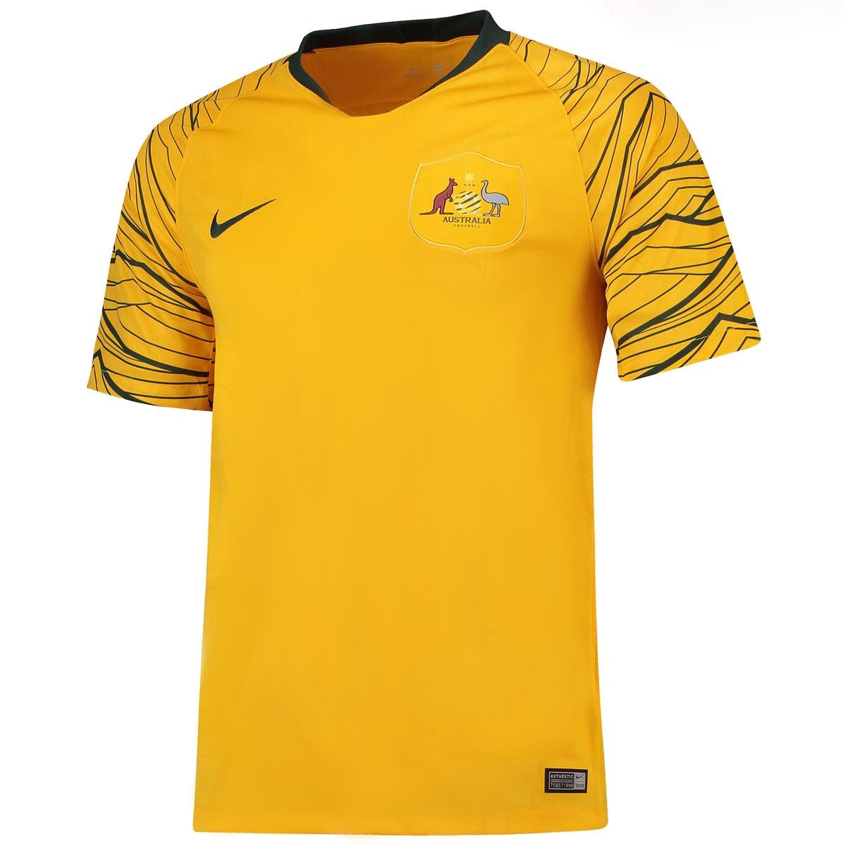 maillot domicile Australie 2018 coupe du monde 2018