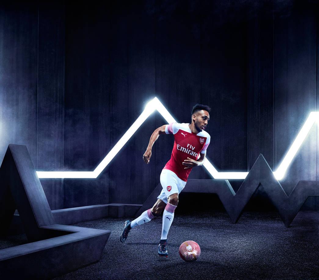 Arsenal 2019 maillot domicile Aubameyang