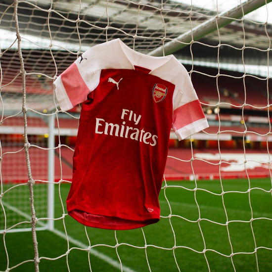 Arsenal 2019 maillot domicile officiel 18 19