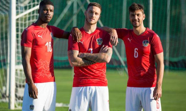 Puma confectionne les nouveaux maillots de foot Autriche 2018