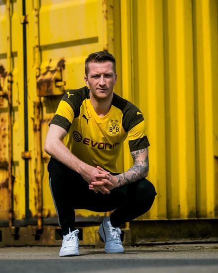 BVB Dortmund 2019 mailllot domicile foot 2018 2019 Reus