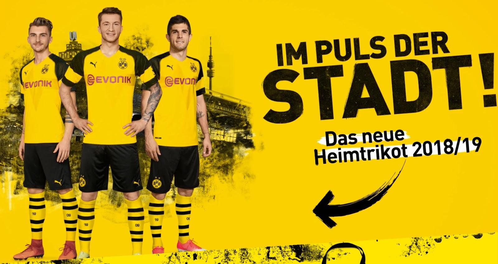 BVB Dortmund 2019 mailllot domicile officiel