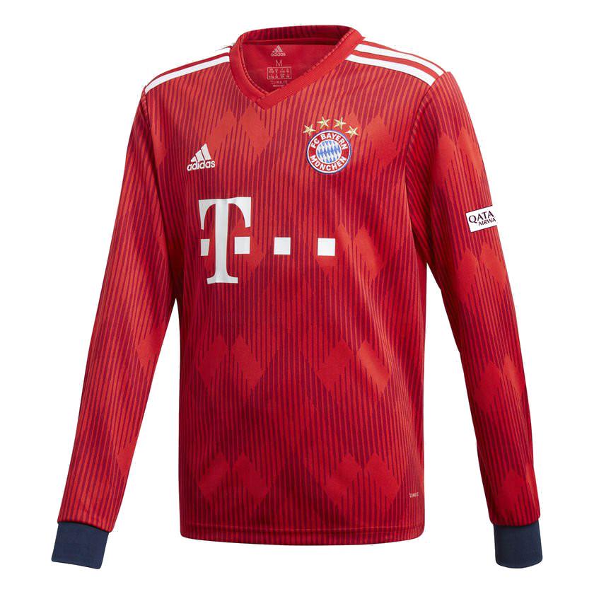 Bayern Munich 2019 maillot domicile manches longues