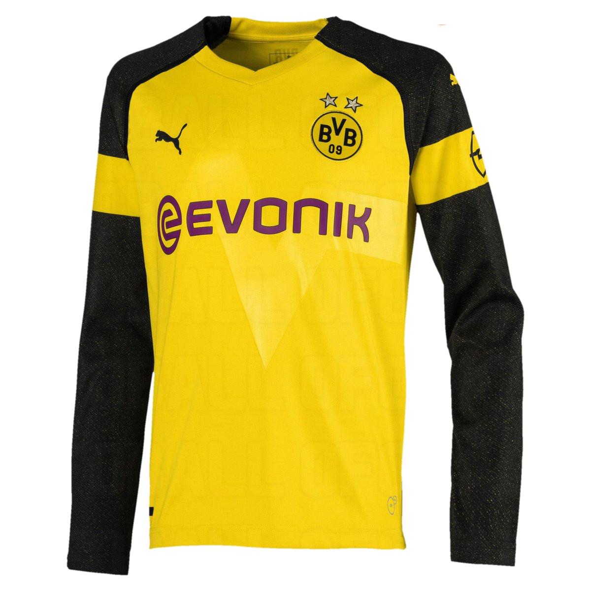 Borussia Dortmund 2019 maillot domicile manches longues