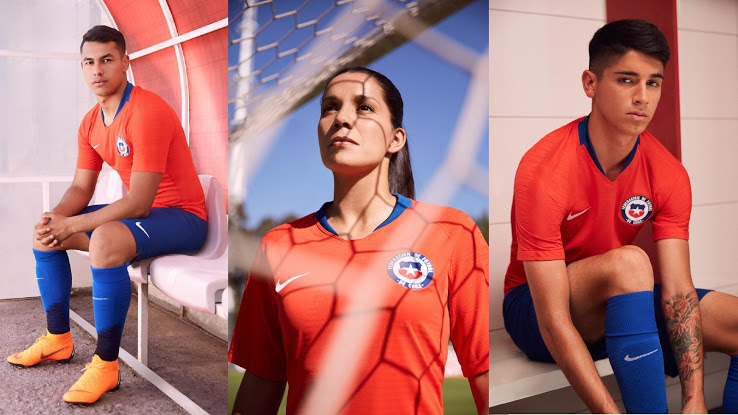 Chili 2018 maillot foot domicile officiel