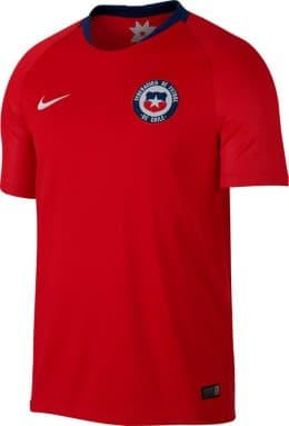 Chili 2018 maillot foot domicile rouge