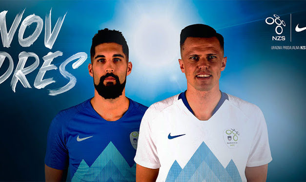 Le design des maillots de foot Slovénie 2018