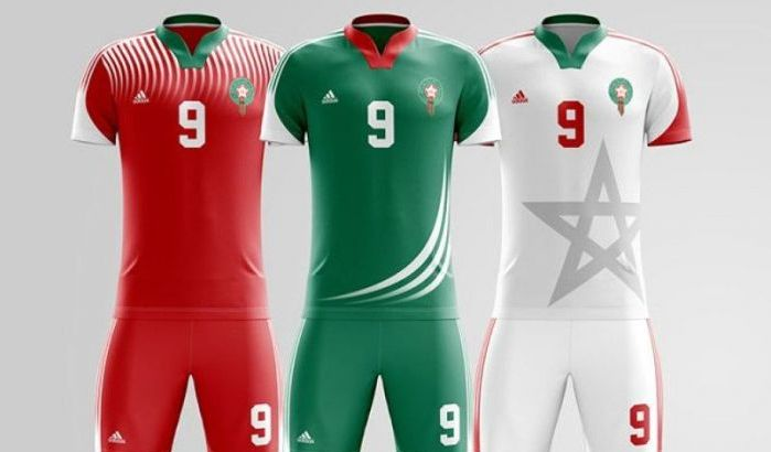 infos sur les maillots maroc 2018 coupe du monde 2018. Black Bedroom Furniture Sets. Home Design Ideas