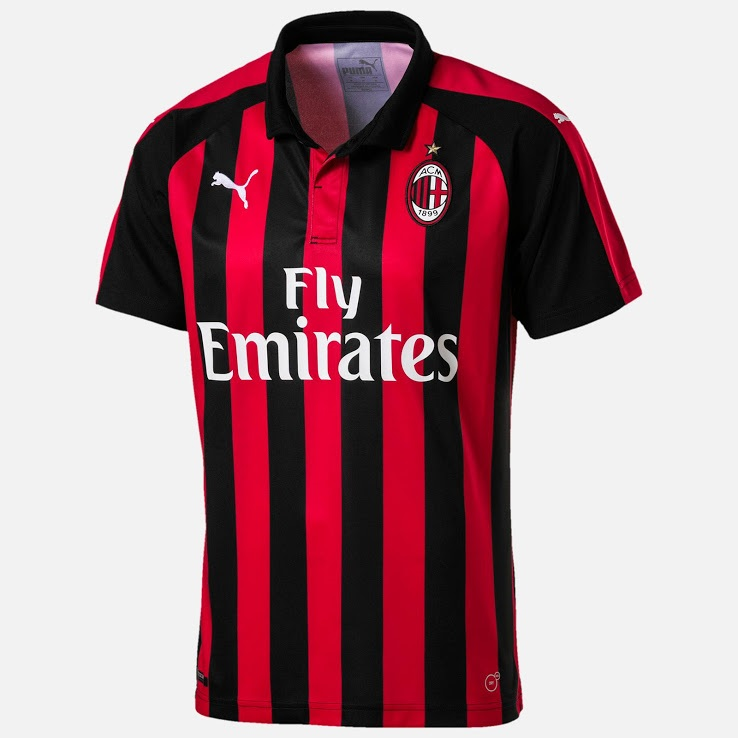 AC Milan 2019 maillot domicile Adidas 18 19