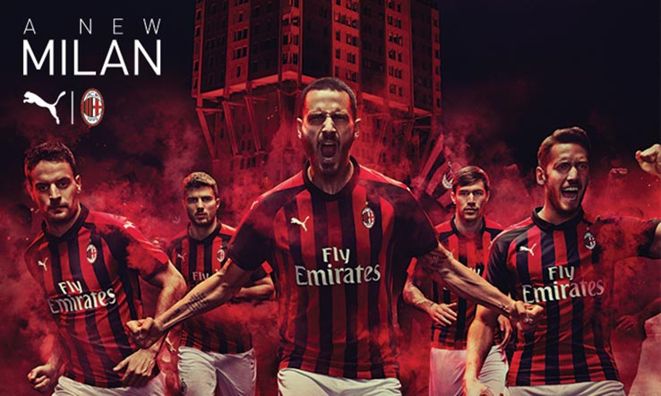 AC Milan 2019 maillot domicile Adidas 2018 2019
