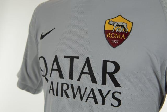 AS Roma 18 19 maillot extérieur gris