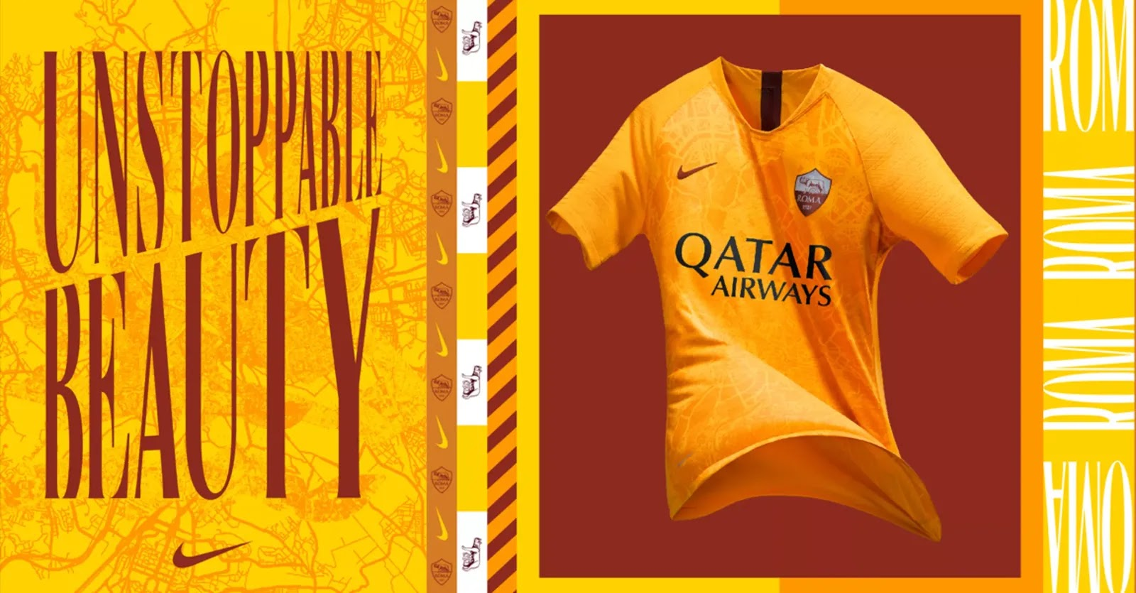 AS Roma 2019 3eme maillot de foot third officiel Nike