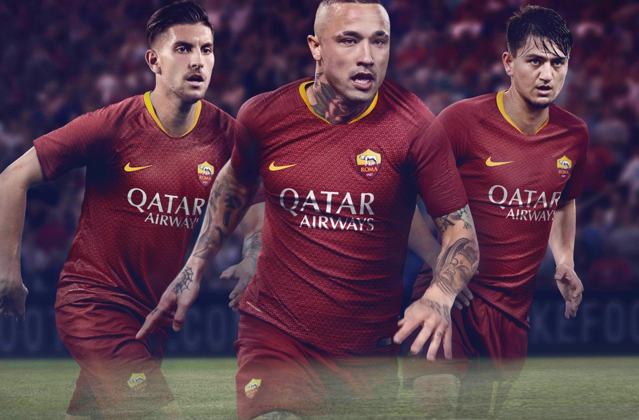 AS Roma 2019 maillot domicile foot