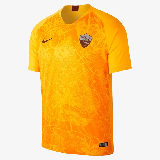 AS Roma 2019 nouveau maillot third 18 19