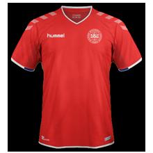 Danemark 2018 maillot coupe du monde domicile