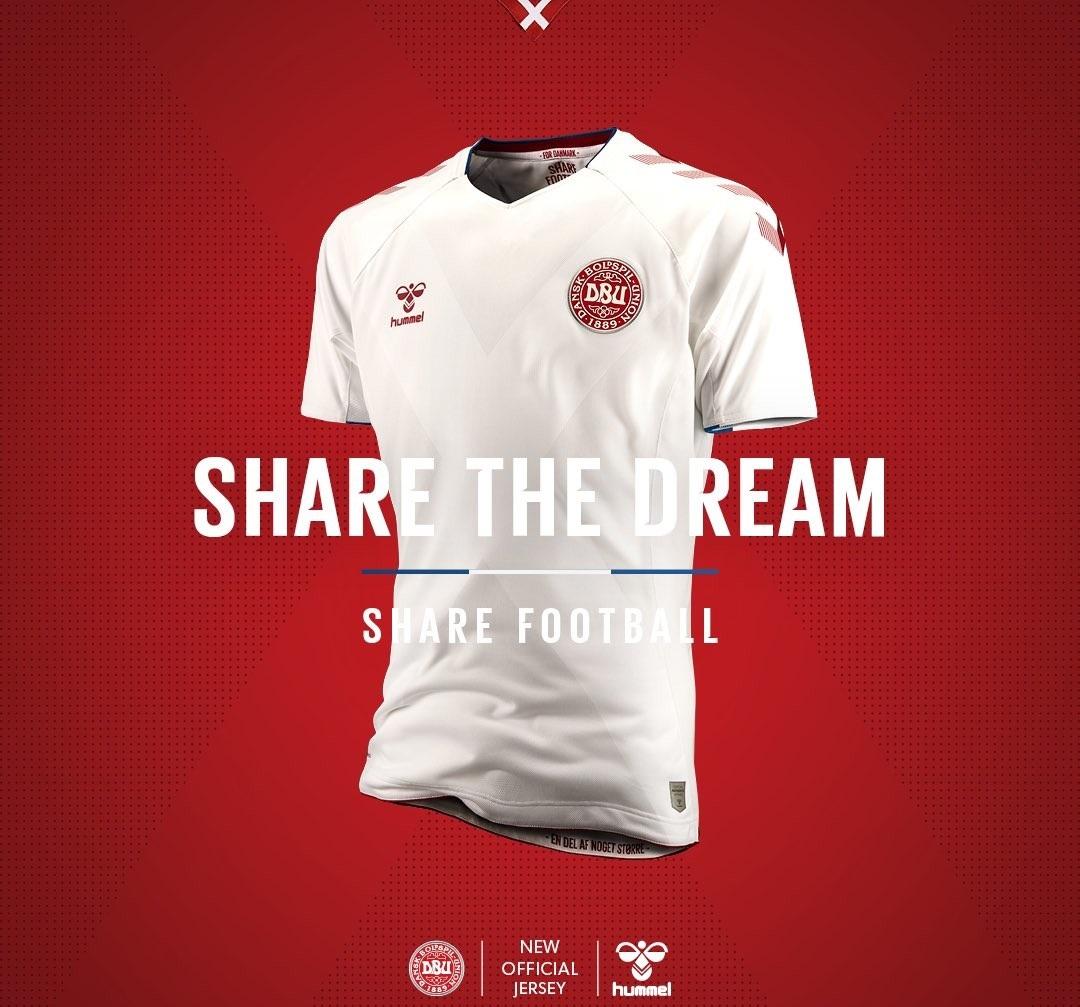 Danemark 2018 maillot exterieur coupe du monde 2018