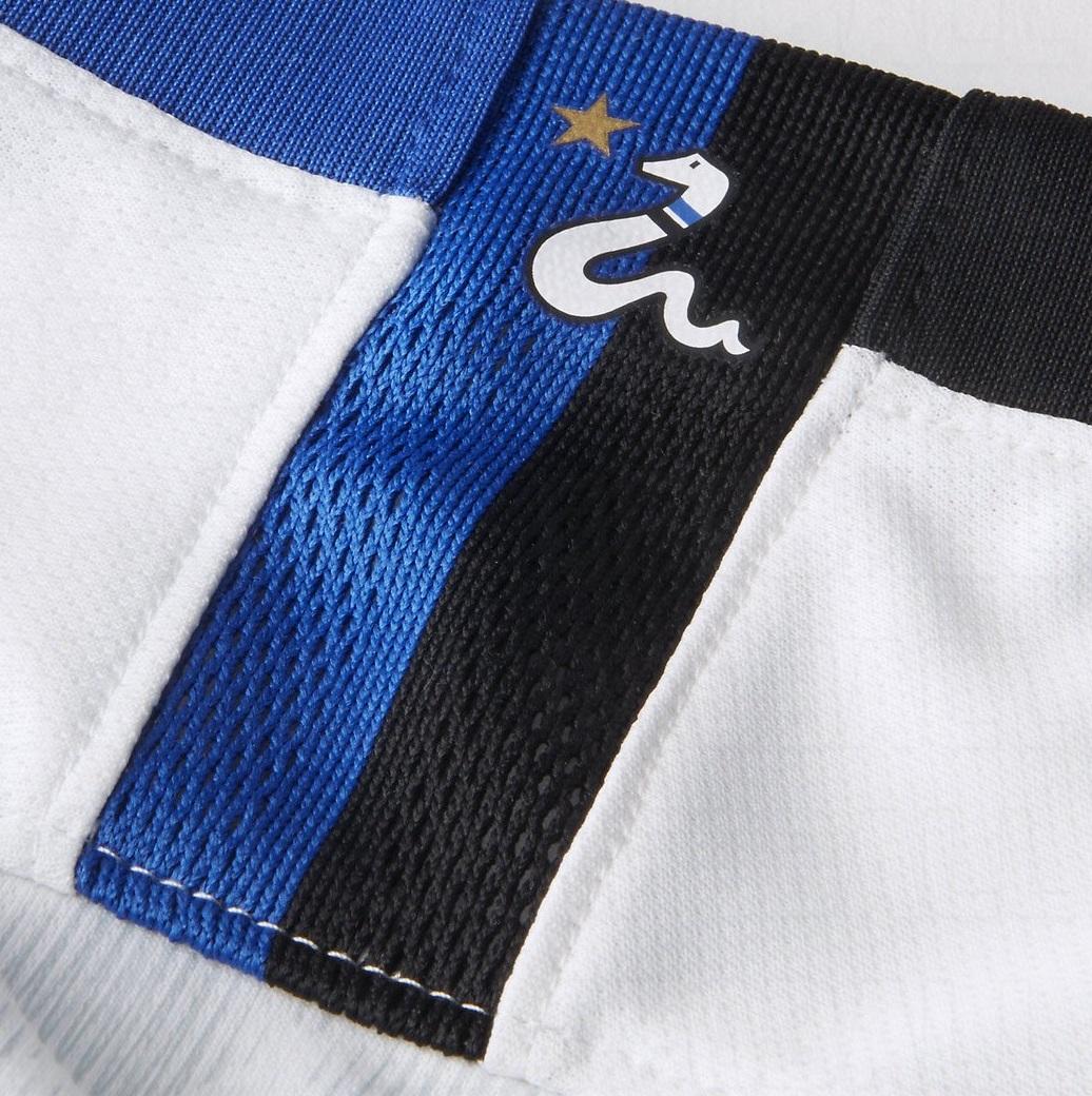 Inter Milan 2019 détails maillot extérieur dos serpent
