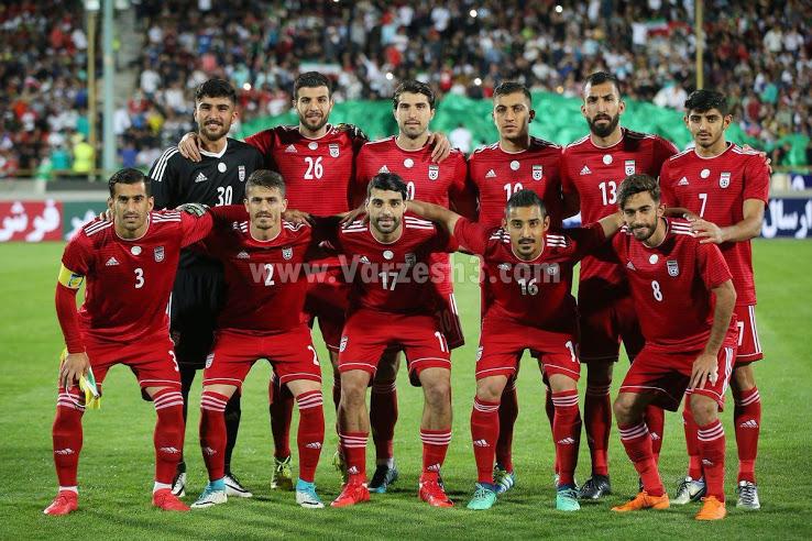 Iran 2018 maillot exterieur coupe du monde officiel