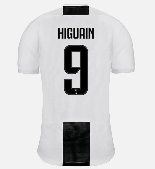 Juventus 2019 flocage Higuain