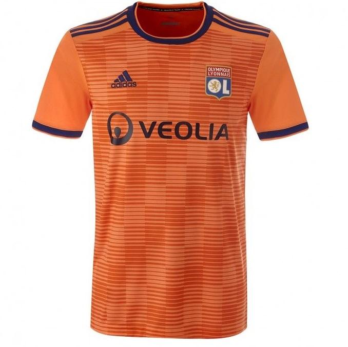 Lyon 2018 2019 nouveau maillot third orange Olympique Lyonnais