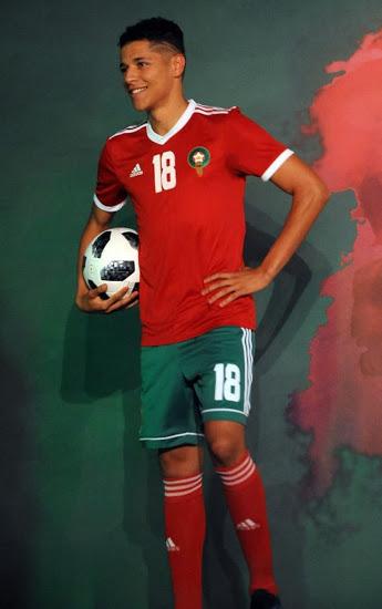 Maroc 2018 maillot domicile coupe du monde 2018 Adidas
