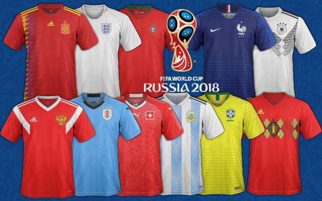 maillots foot coupe du monde 2018