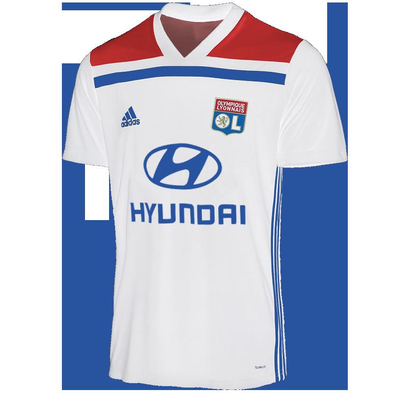 OL 2019 maillot domicile foot 18 19 Lyon
