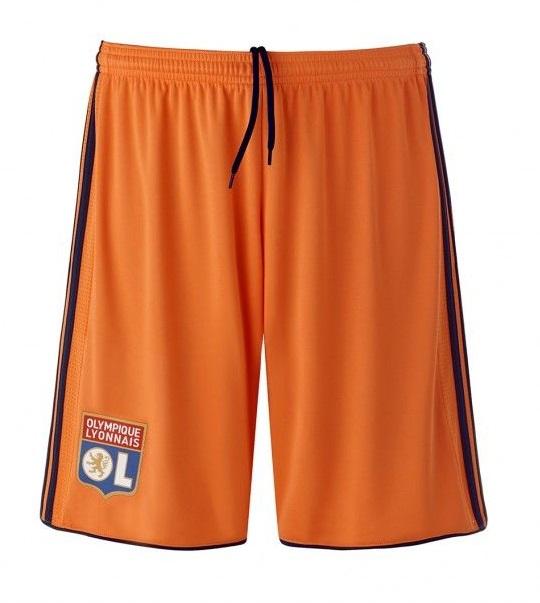 OL 2019 short de foot orange third