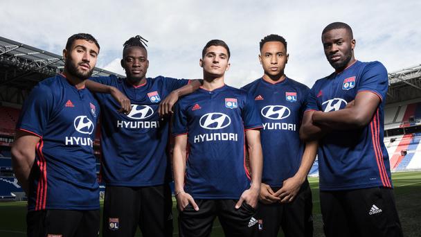 Olympique Lyonnais 2018 2019 maillot extérieur Adidas bleu