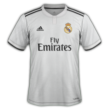 Real Madrid 2018 2019 maillot domicile football 18 19