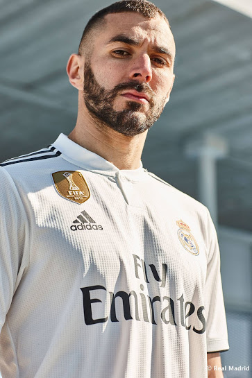 Real Madrid 2019 maillot de foot domicile Benzema