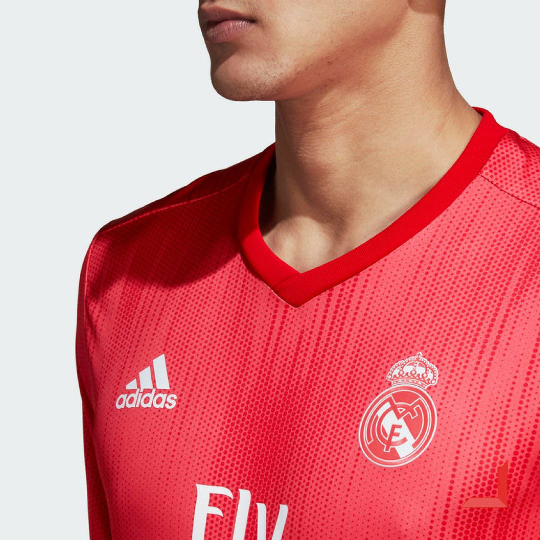 Real Madrid 2019 nouveau maillot third rouge Adidas 2018 2019