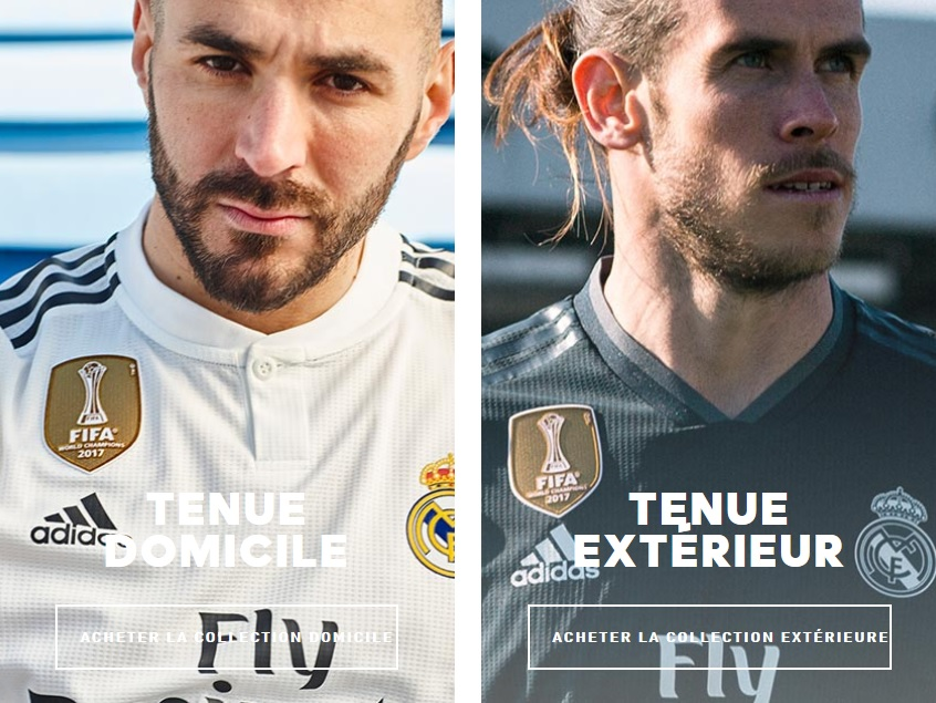 Real Madrid 2019 nouveaux maillots de football 2018 2019