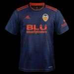 Valence 2019 maillot extérieur foot Valencia