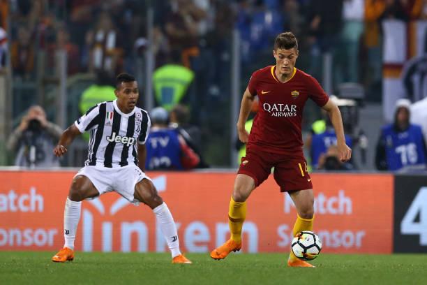 patrik schick AS Roma 2018 2019 maillot domicile