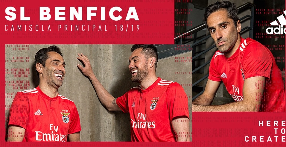 Benfica 2018 2019 maillot domicile football
