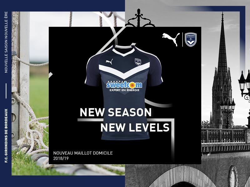 Bordeaux 2019 nouveau maillot de football 18 19