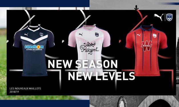 Girondins de Bordeaux 2016 nouveaux maillot de foot 18-19