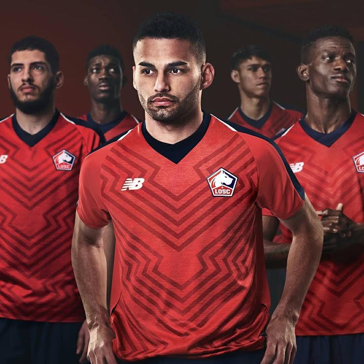 LOSC 2019 maillot domicile Lille officiel New balance