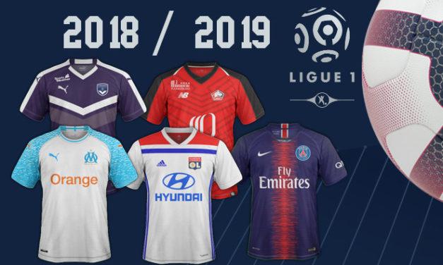 Tous les maillots de Ligue 1 saison 2018 2019