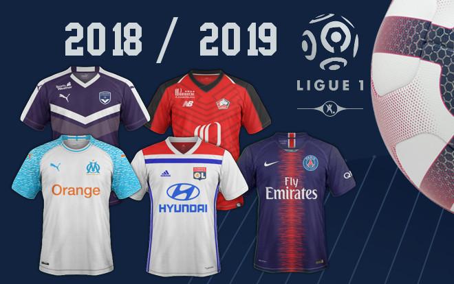 les maillots de Ligue 1 saison 2018 2019