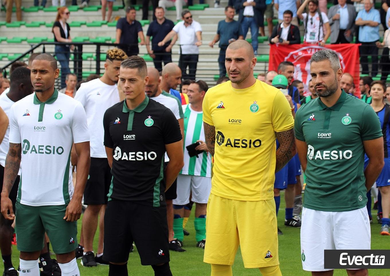 ASSE 2019 nouveaux maillots de football 2018 2019 Coq Sportif