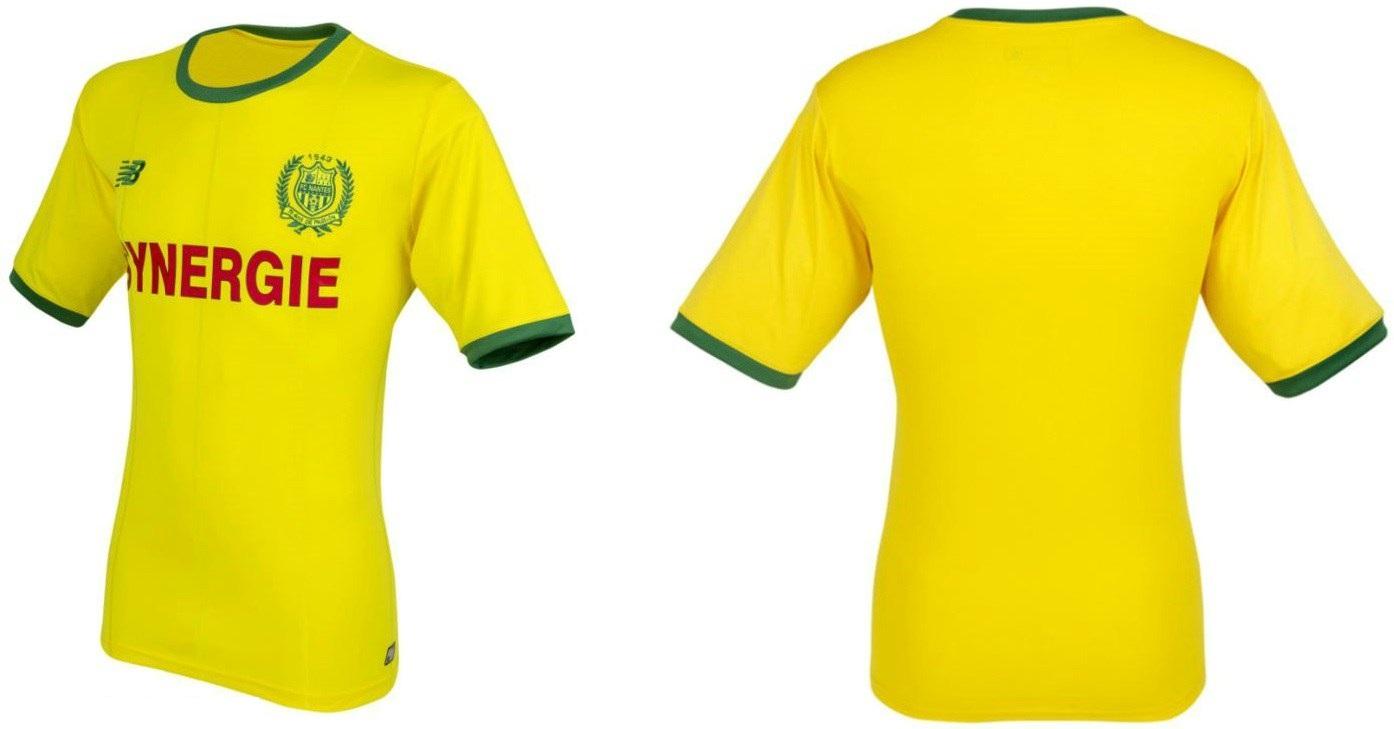 FC Nantes 2019 foot maillot domicile jaune