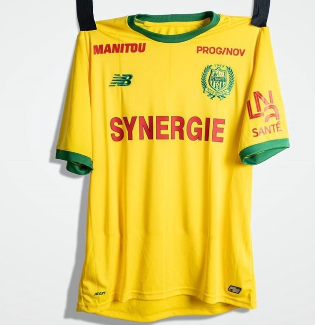 FC Nantes 2019 football maillot domicile jaune 18 19