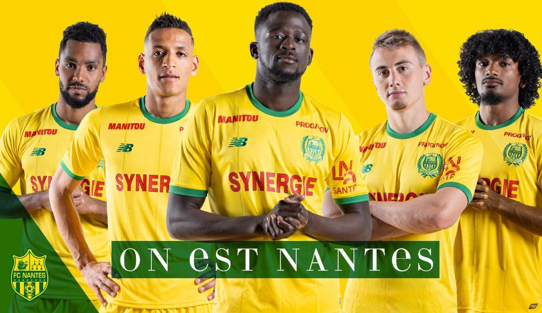 FC Nantes 2019 maillot domicile foot