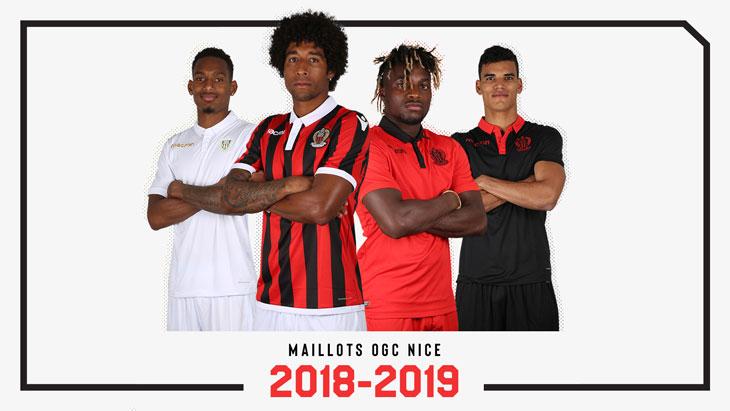 OGC Nice maillots de football 18 19