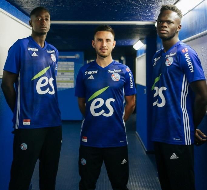 RC Strasbourg 2019 maillot de football domicile